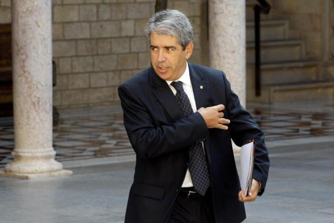 El conseller de presidencia Francesc Homs en la reunión del Govern en...