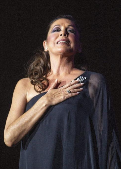 Pantoja, el mes pasado en un concierto en Zaragoza.