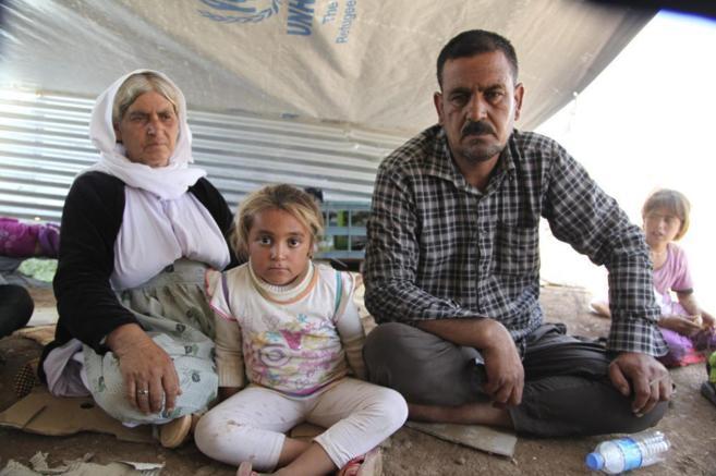 Yazidíes, refugiados en un campamento en el Kurdistán iraquí.