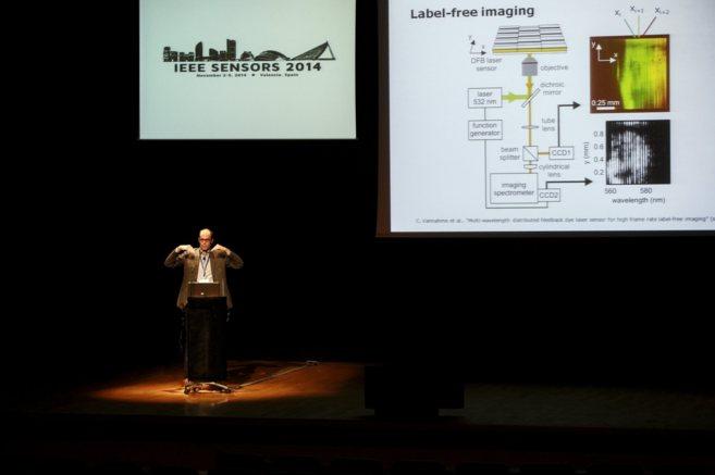 Imagen de una de las ponencias de ayer del IEEE Sensors 2014 en el...