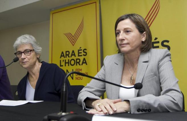 Muriel Casals y Carme Forcadell, presidentas de Òmnium y la ANC