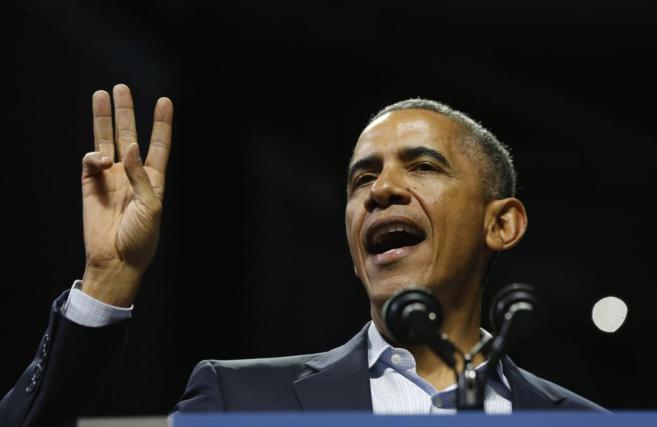 Barack Obama durante un acto de las elecciones legislativas.