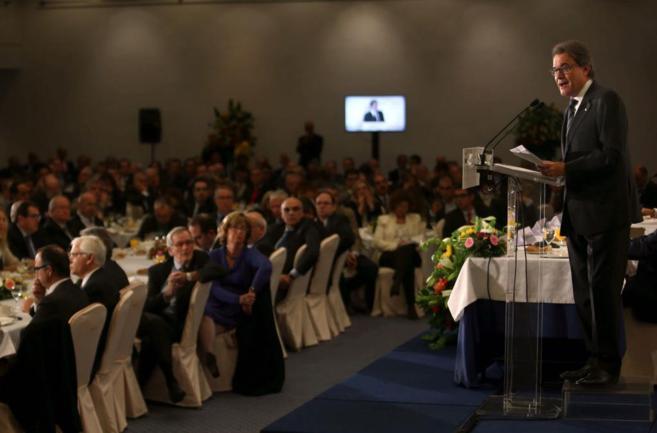 El presidente catalán, Artur Mas, en la conferencia