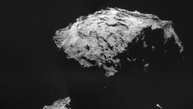 El lugar de aterrizaje de 'Philae' en el cometa...