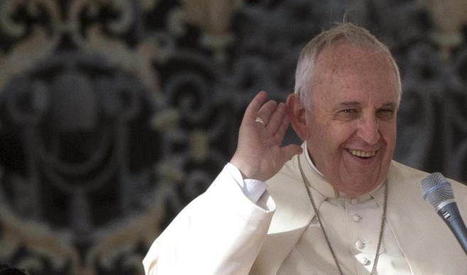 El Papa hoy en su audiencia de los miércoles.