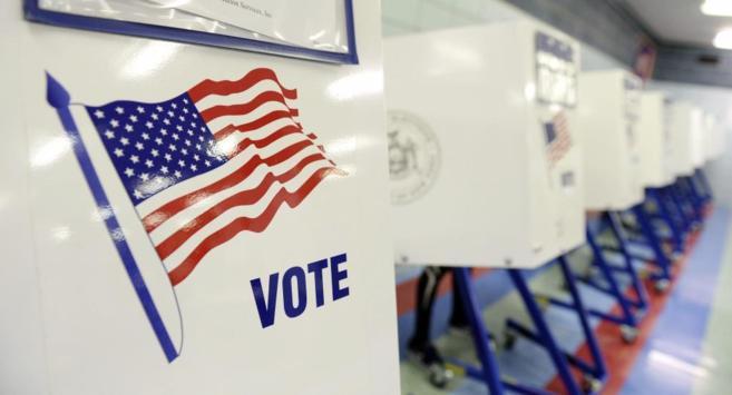 Un colegio electoral de Estados Unidos, ayer.