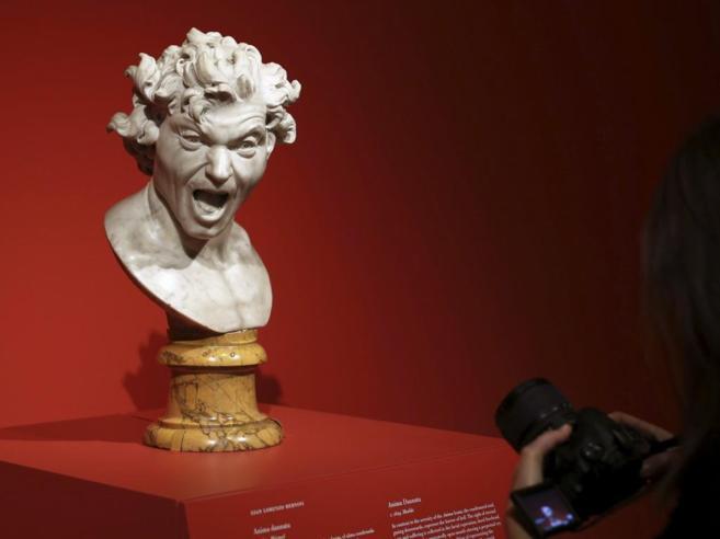 'Anima dannata' 1619 en marmol, es una de las piezas que se...
