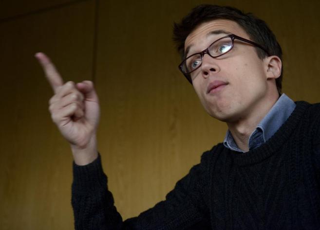 El portavoz de Podemos, Íñigo Errejón, durante la entrevista.