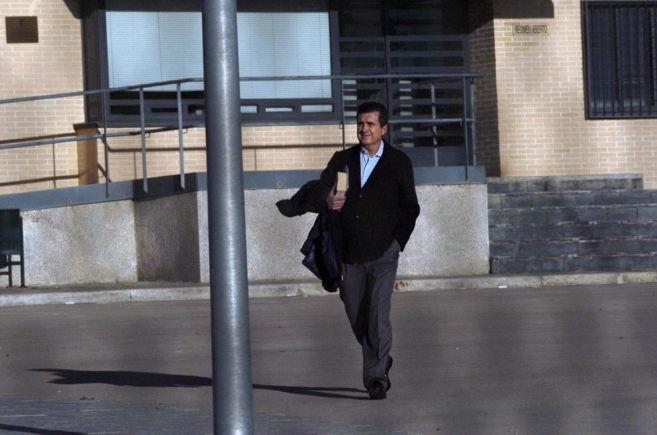 Jaume Matas saliendo de la cárcel de Segovia con un permiso de fin de...