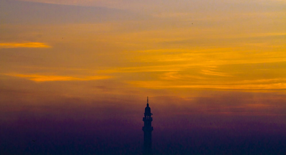 Detalle de un minarete en Lahore (Pakistán).