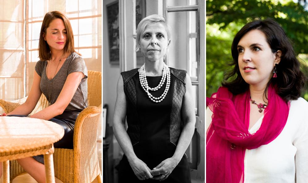 Carola García-Calvo, Eva Moya y María Ponte. (Retratos: Silvia...