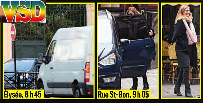 Detalle de la portada de VSD, donde se ve un coche presidencial salir...