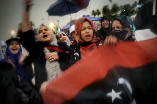 Manifestación en Trípoli, ayer, por la anulación del Parlamento.