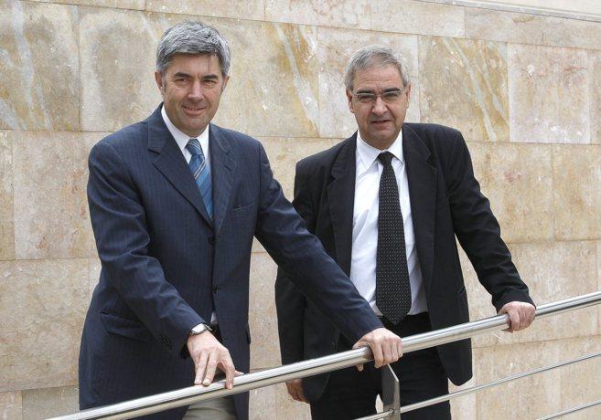 Fran Chuan, de Dícere, y el profesor de IESE Joaquim Vilà en las...