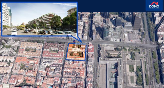 Recreación de solar de Raimundo Fernández Villaverde 50 y del...