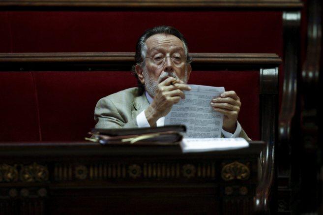 El vicealcalde de Valencia, Alfonso Grau, en su escaño en el último...