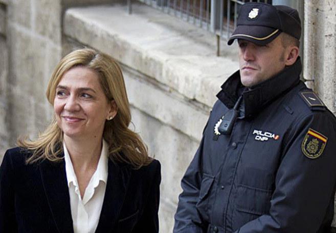 La Infanta Cristina cuando acudió a declarar a los juzgados de Palma.