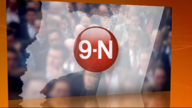 La 'careta' del programa especial sobre el 9-N.