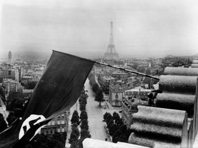 Una imagen de París ocupada por los nazis.