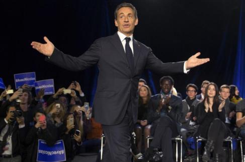 El ex presidente francés, durante su intervención en el acto de este...