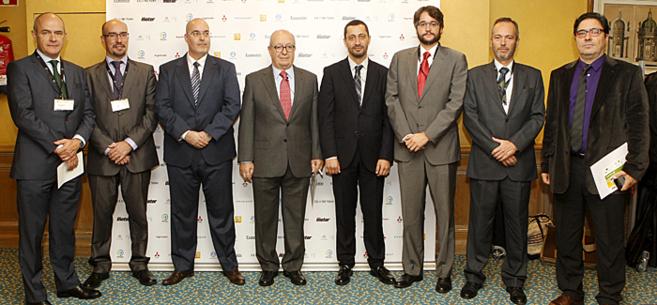 De izquierda a derecha: Carlos Bergera, de Iberdrola; Jon Asín...