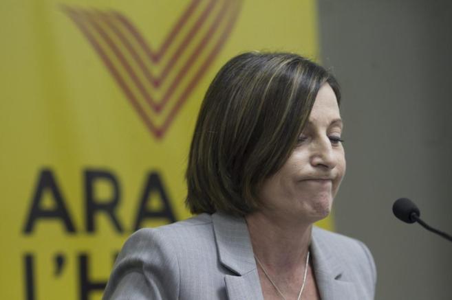 La líder de la ANC, Carme Forcadell.