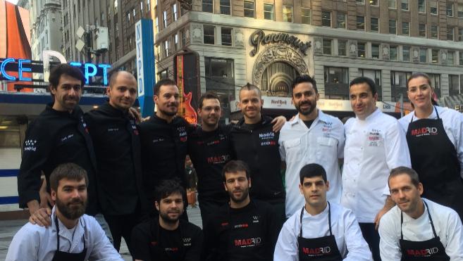 Los chefs madrileños, con sus equipos en Nueva York