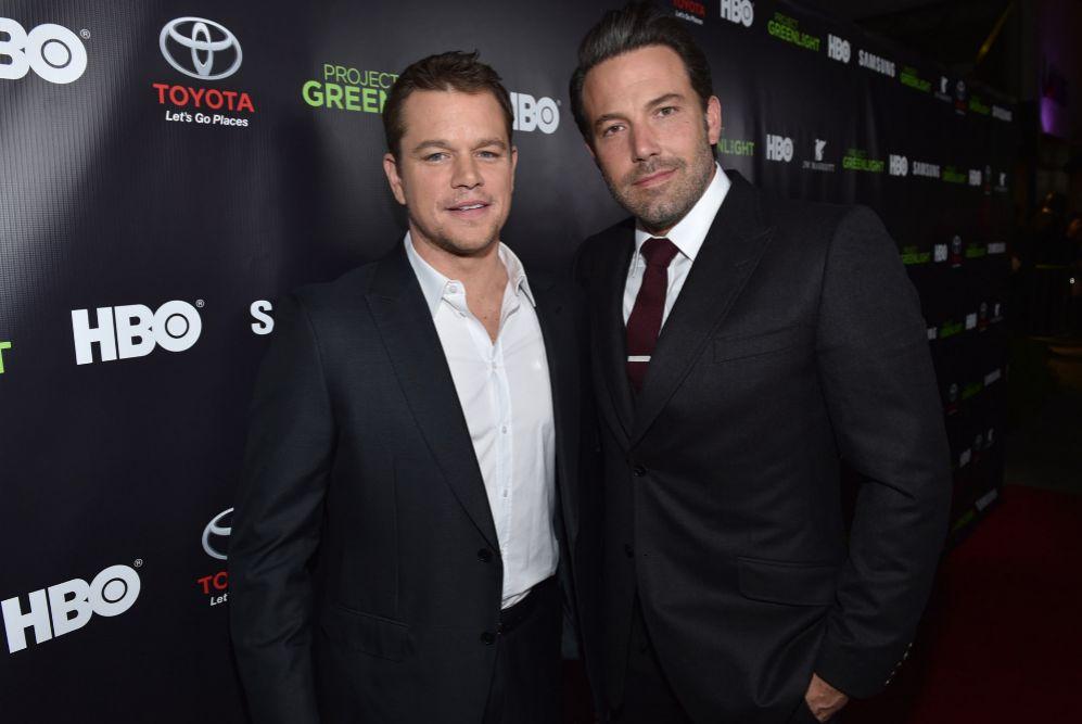 Matt Damon y Ben Affleck juntos en el festival de cine HBO Project...