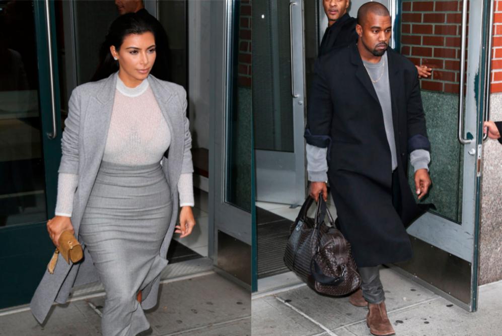 Kim Kardashian y su marido el rapero Kanye West fueron vistos saliendo...
