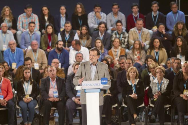 Rajoy durante su comparecencia en Cáceres.