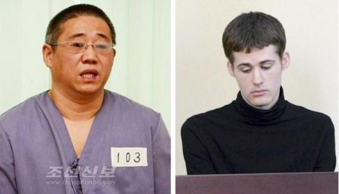 Kenneth Bae y Matthew Todd, estadounidenses liberados por Pyongyang.