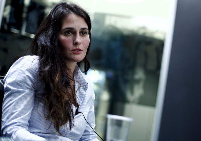 María Díaz, esposa de Alejandro De Pedro, en la sede de EL MUNDO en...
