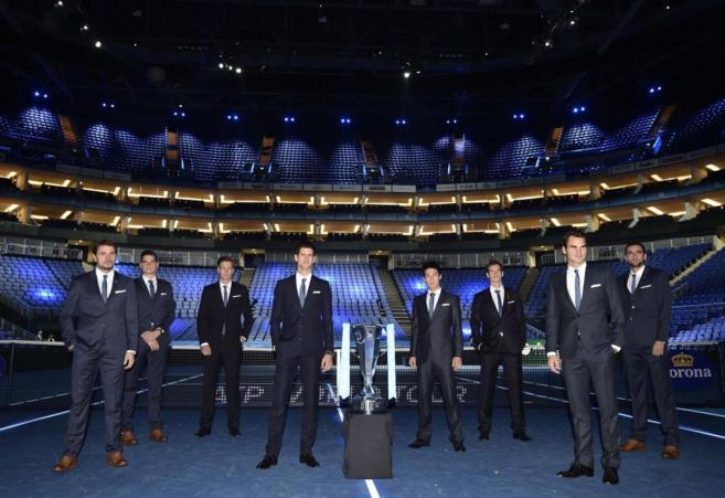 Los ocho protagonistas de la Copa Masters en el O2 Arena de Londres.
