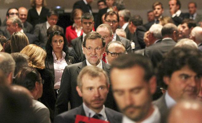 Rajoy a su llegada el pasado día 4 al Congreso del Instituto de la...