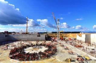 Obras de construcción del reactor ITER.