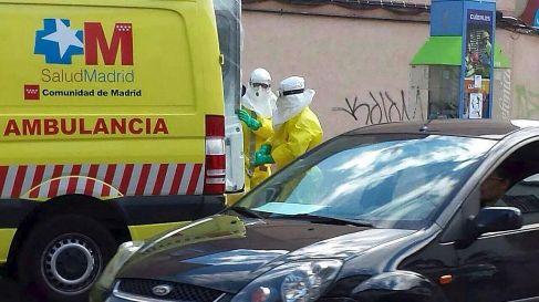 Una ambulancia que trasladaba a un sospechoso de ébola (en octubre).