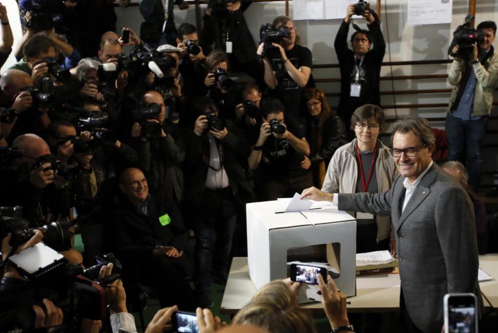 El presidente de la Generalitat, Artur Mas tenía previsto llegar a...