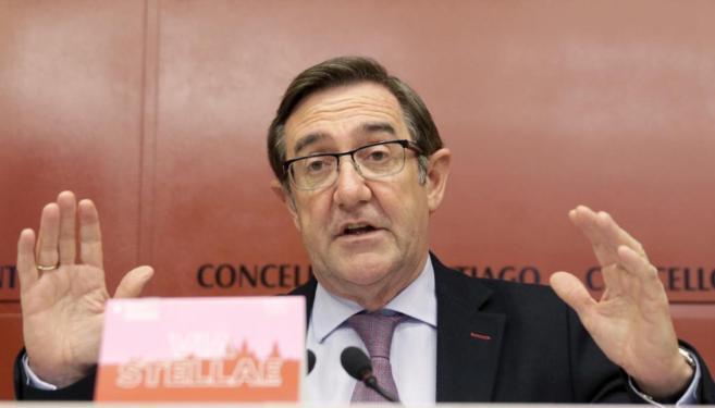 Ángel Currás en una rueda de prensa el pasado junio.