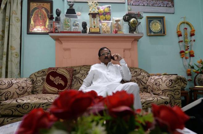 El nuevo viceministro de Yoga indio,Shripad Yesso.