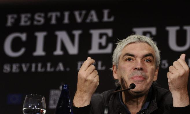 El director portugués Pedro Costa durante la rueda de prensa de...