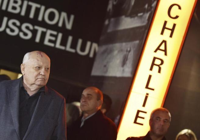 Mijaíl Gorbachov durante los actos de celebración de la caída del...