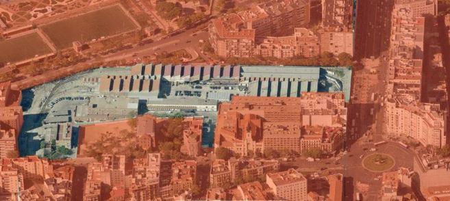 Imagen en la que se identifica el gran solar que subasta Metro de...