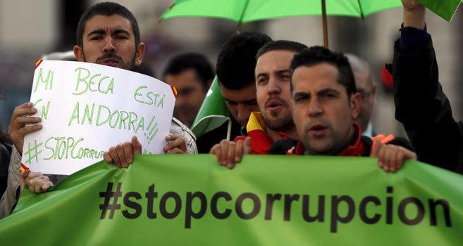 Protesta en Madrid contra la corrupción política en España