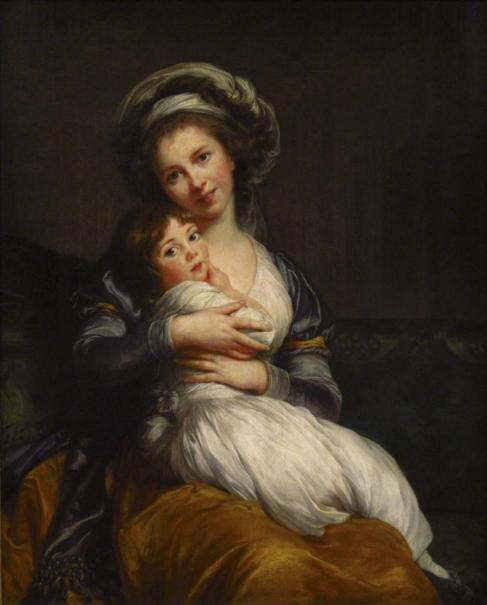 Autorretrato de Marie-Louise-Élisabeth Vigée-Lebrun con su hija, de...