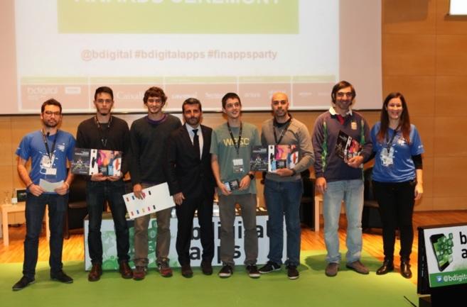 Foto de familia de los ganadores de la Finappsparty de este año.