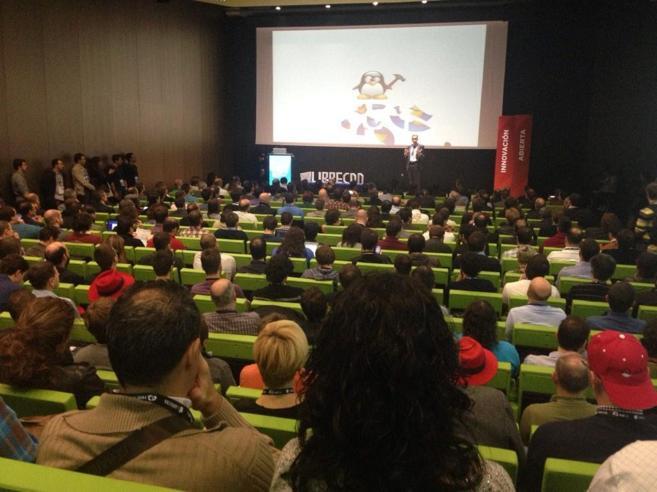Primer día del congreso LibreCon 2014, celebrado el pasado martes en...