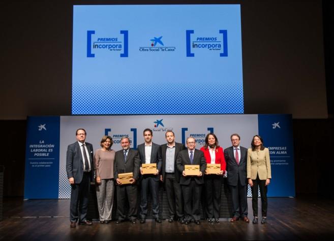 Los galardonados en los Premios Incorpora.