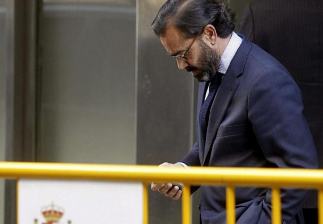 El condenado Pedro Farré, ex directivo de la SGAE, a su llegada a la...