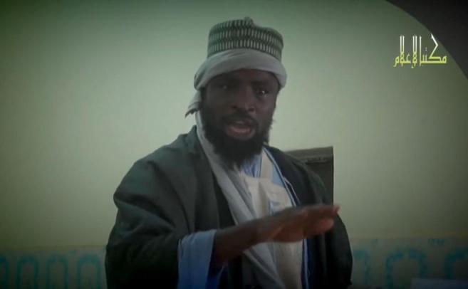 Abubakar Shekau, líder de Boko Haram, en un vídeo difundido...
