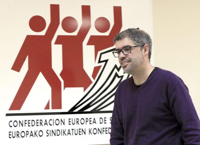 El secretario general de Comisiones Obreras de Euskadi, Unai Sordo.